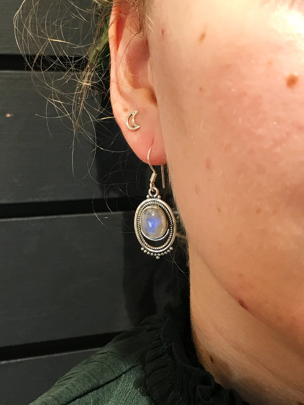 Moonstone Odessa Earrings - Jewels & Gems