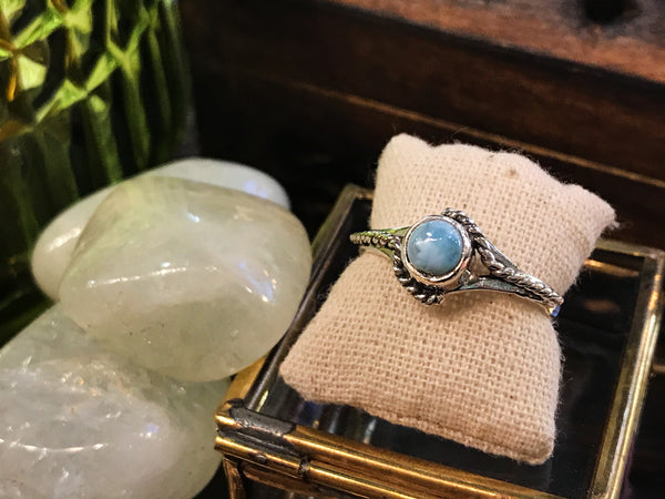 Larimar Dix Ring - Jewels & Gems