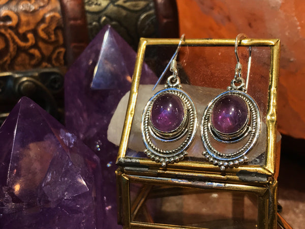 Amethyst Odessa Earrings - Jewels & Gems