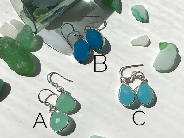 Chalcedony Adora Earrings - Jewels & Gems