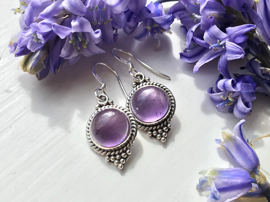 Amethyst Cassia Dot Earrings - Jewels & Gems