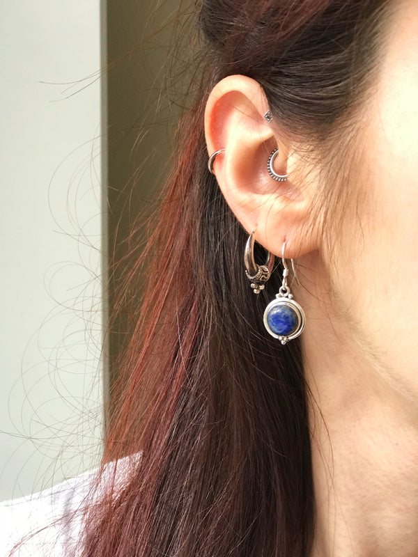 Lapis Lazuli Ari Dot Earrings - Jewels & Gems