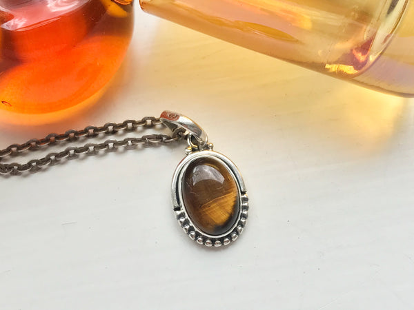 Tiger's Eye Gala Pendant - Jewels & Gems