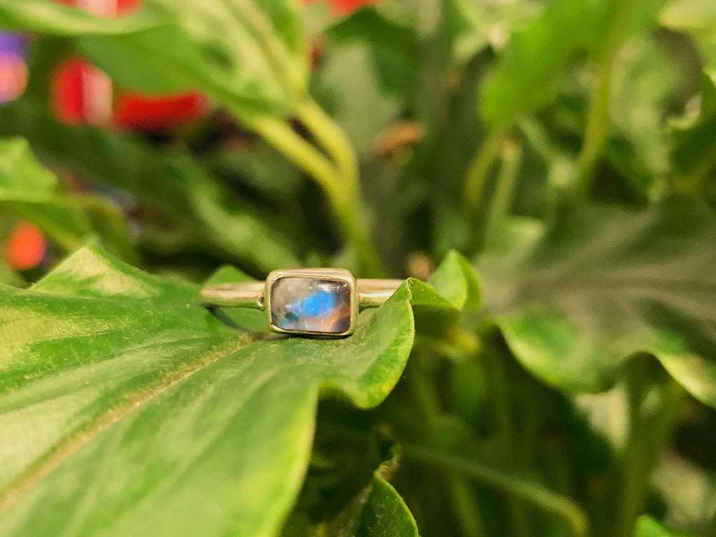 Moonstone Akoni Ring - XSmall Rectangle - Jewels & Gems