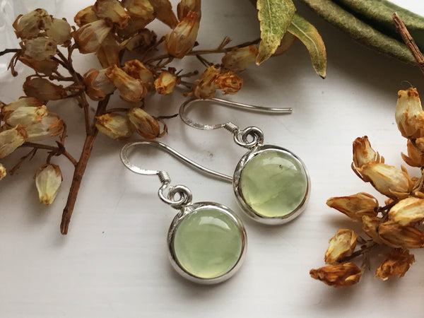 Prehnite Ariel Earrings - Round - Jewels & Gems