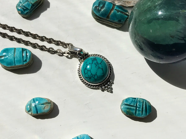 Turquoise Cassia Dot Pendant - Jewels & Gems