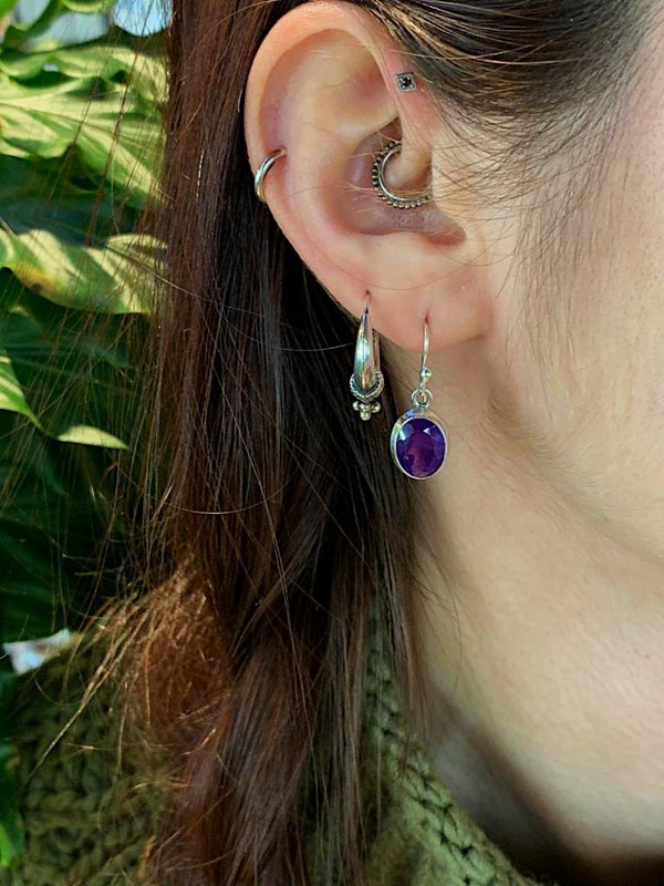 Amethyst Faceted Ari Earrings - Jewels & Gems