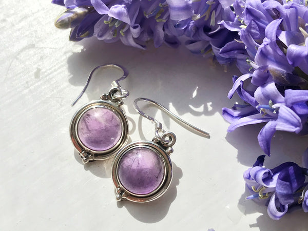 Amethyst Ari Dot Earrings - Jewels & Gems