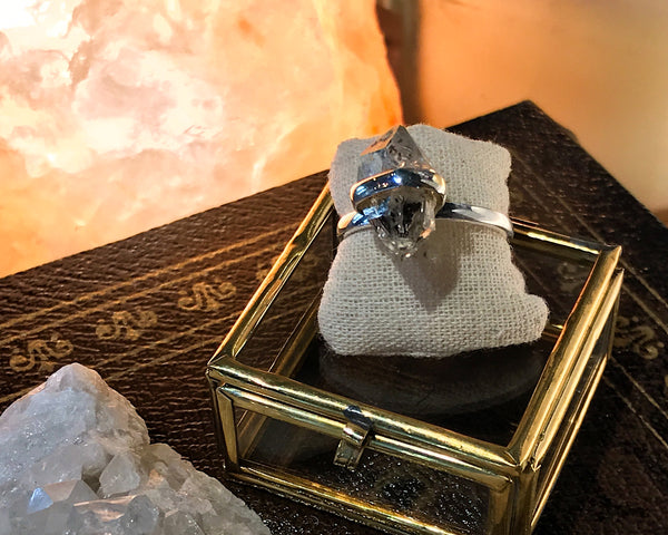 Herkimer Diamond/Quartz Katla Ring - Jewels & Gems