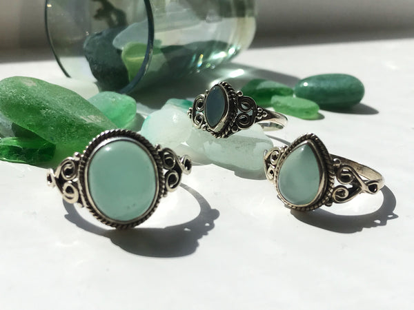 Chalcedony Mix Rings - Jewels & Gems