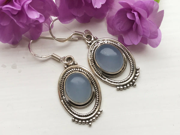 Blue Chalcedony Odessa Earrings - Jewels & Gems