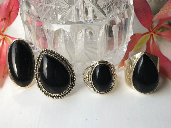 Onyx Rings (One of a Kind) - Jewels & Gems