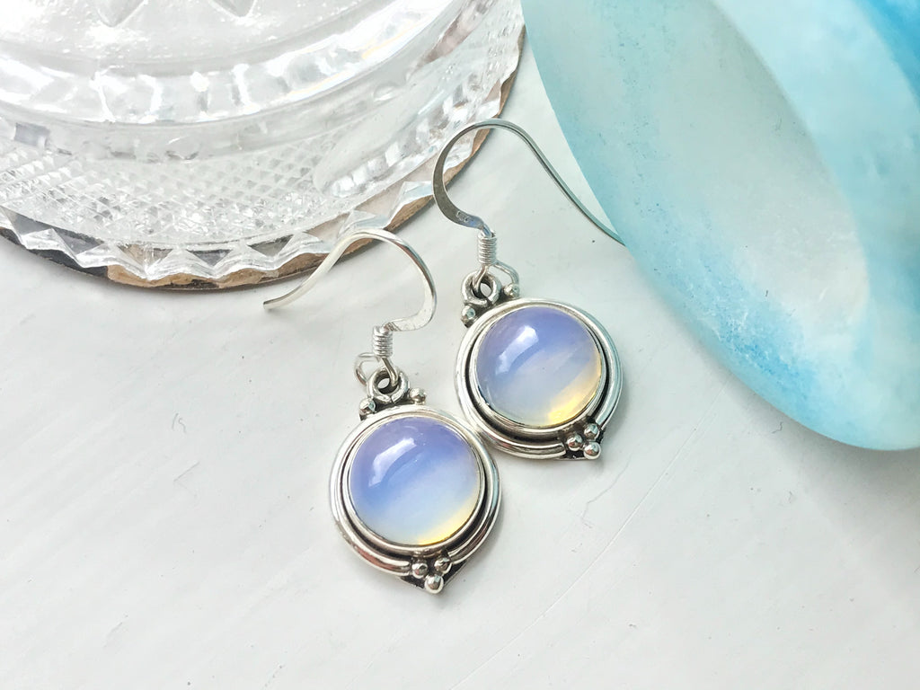 Opalite Ari Dot Earrings - Jewels & Gems