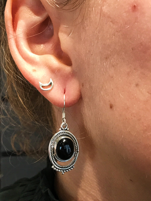 Onyx Odessa Earrings - Jewels & Gems