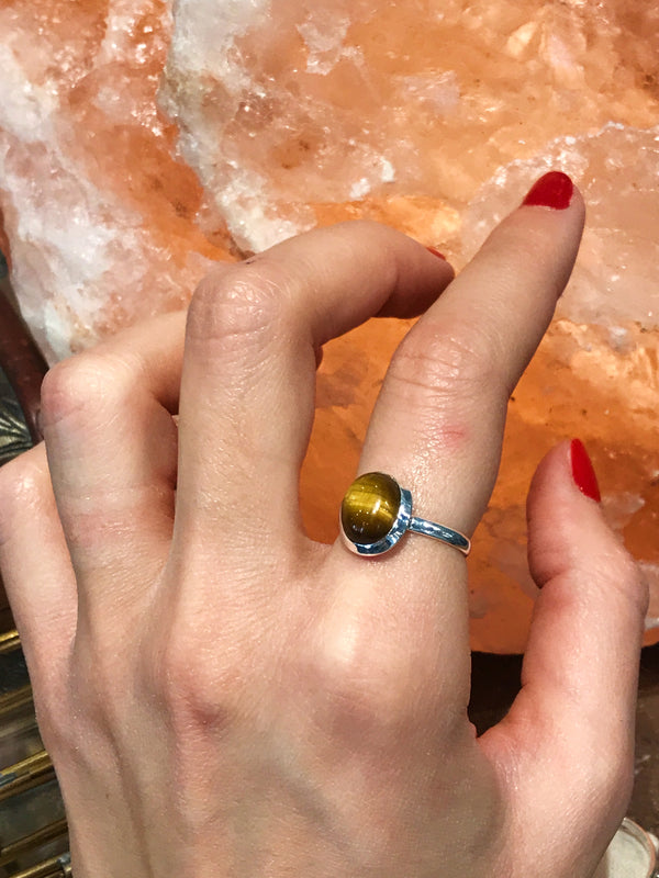 Tiger's Eye Ariel Ring Small - Jewels & Gems