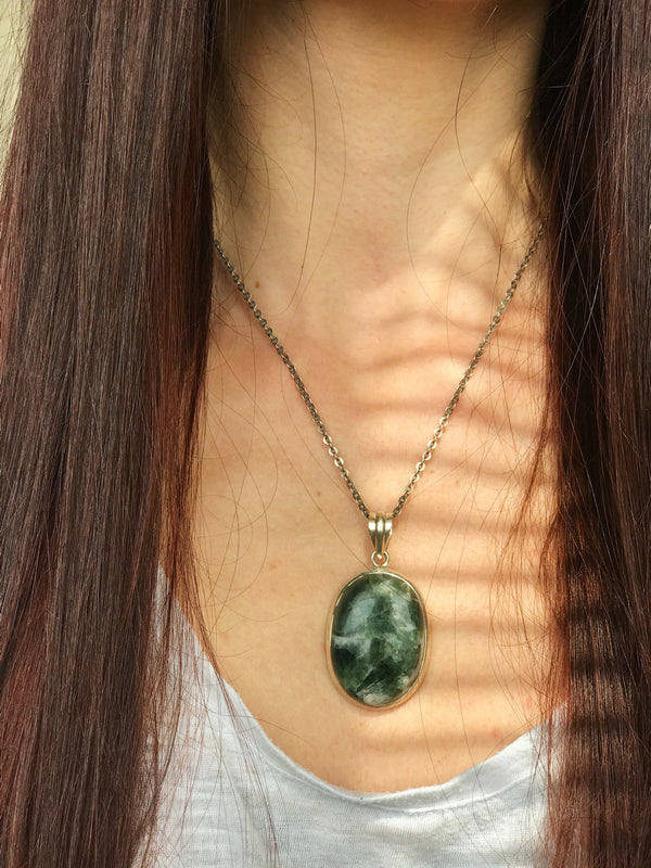 Seraphinite Ariel Pendant - Jewels & Gems