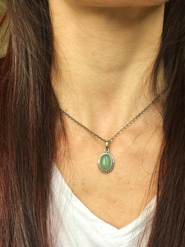 Blue & Green Chalcedony Gala Pendant - Jewels & Gems