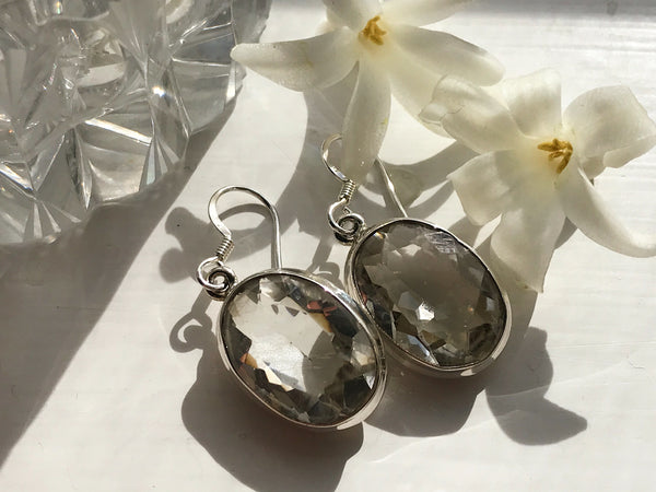 Clear Quartz Ari Earrings - Jewels & Gems