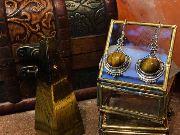 Tiger's Eye Kai Earrings - Jewels & Gems
