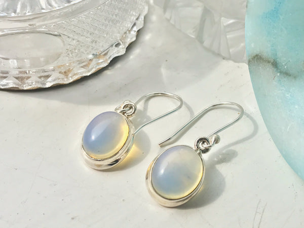 Opalite Ari Earrings - Oval - Jewels & Gems