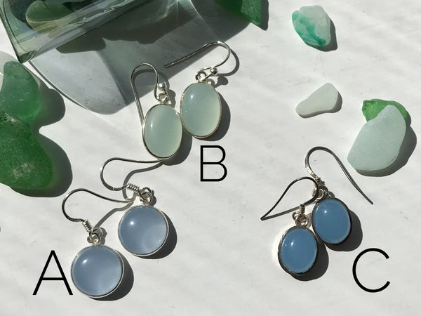 Chalcedony Akoni Earrings - Jewels & Gems