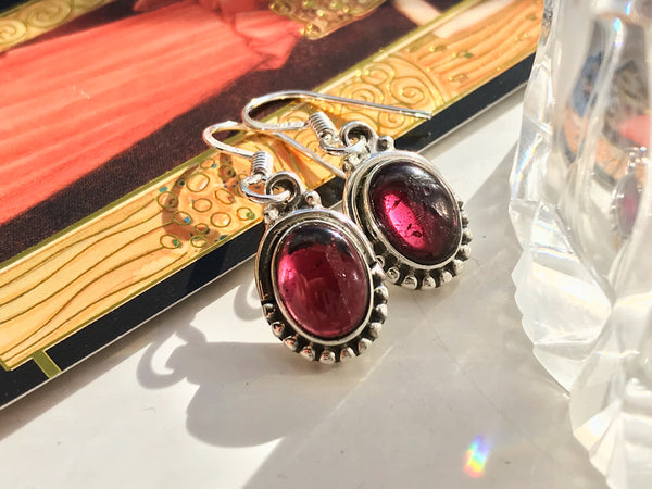 Garnet Mini Gala Earrings - Jewels & Gems