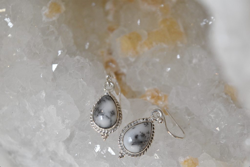 Dendritic Agate Cassia Earrings - Jewels & Gems