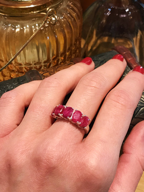 Semi-precious Ruby Astrid Ring - Jewels & Gems