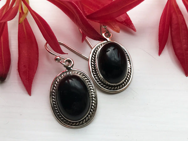 Onyx Cassia Earrings - Jewels & Gems