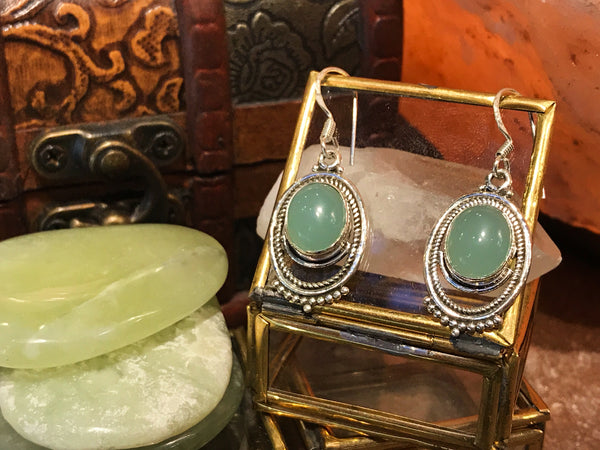 Green Chalcedony Odessa Earrings - Jewels & Gems