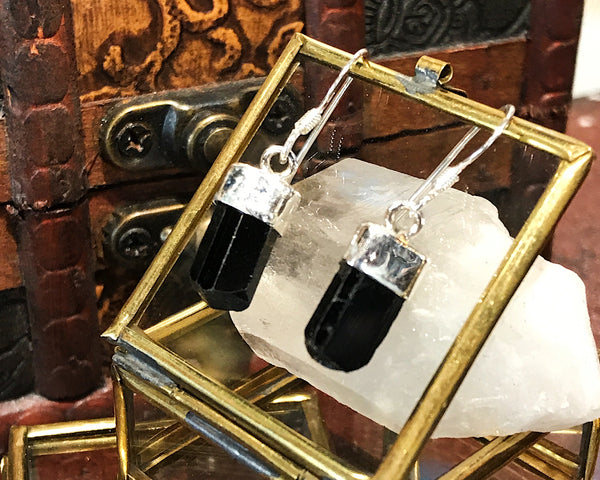 Black Tourmaline Alena Earrings - Jewels & Gems