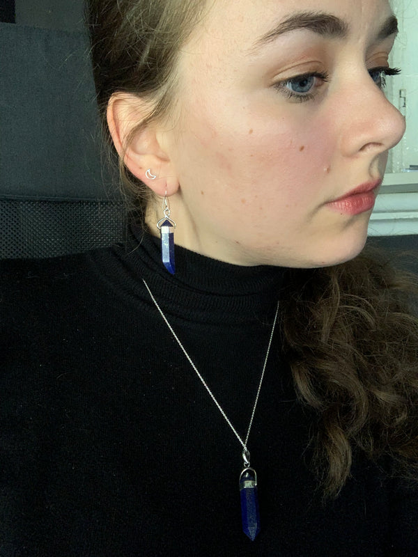 Lapis Lazuli Alena Earrings - Large - Jewels & Gems