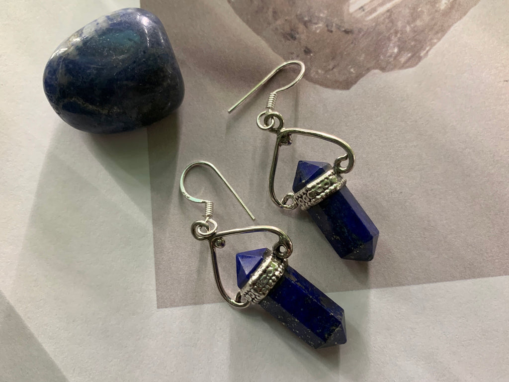 Lapis Lazuli Dianthe Earrings - Jewels & Gems