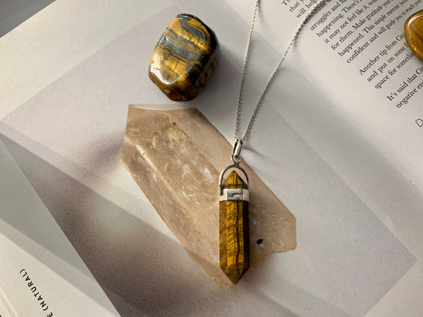 Tiger's Eye Alena Pendant - Jewels & Gems