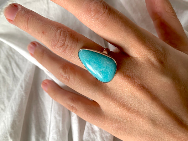 Amazonite Adjustable Ring - Freeform - Jewels & Gems