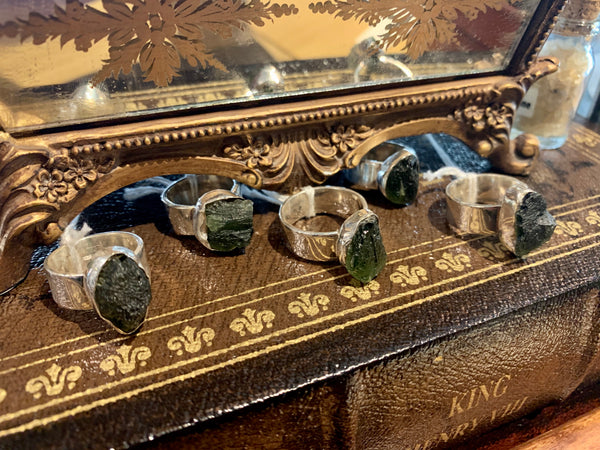 Moldavite Signet Ring - US 6 (One of a kind) - Jewels & Gems