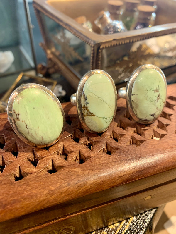 Lemon Chrysoprase Ari Rings (One of a kind) - Jewels & Gems