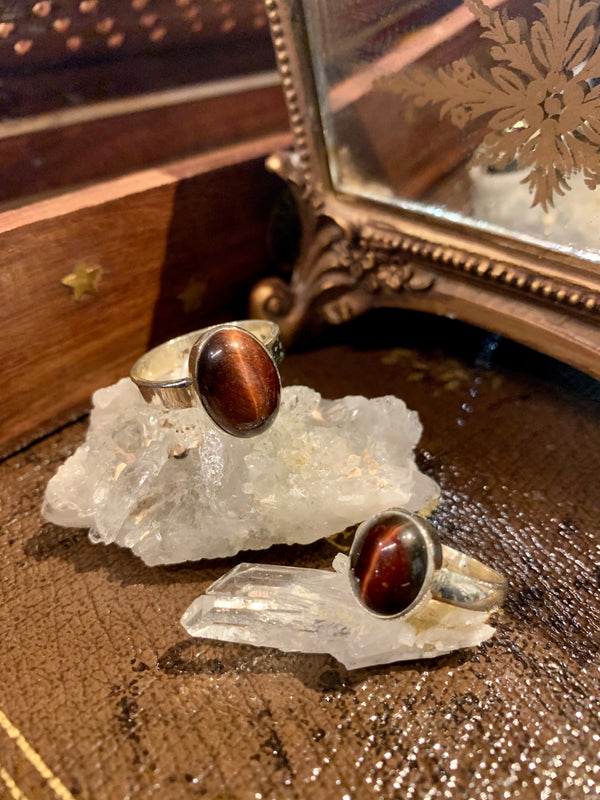 Red Tiger's Eye Akoni Ring - Jewels & Gems