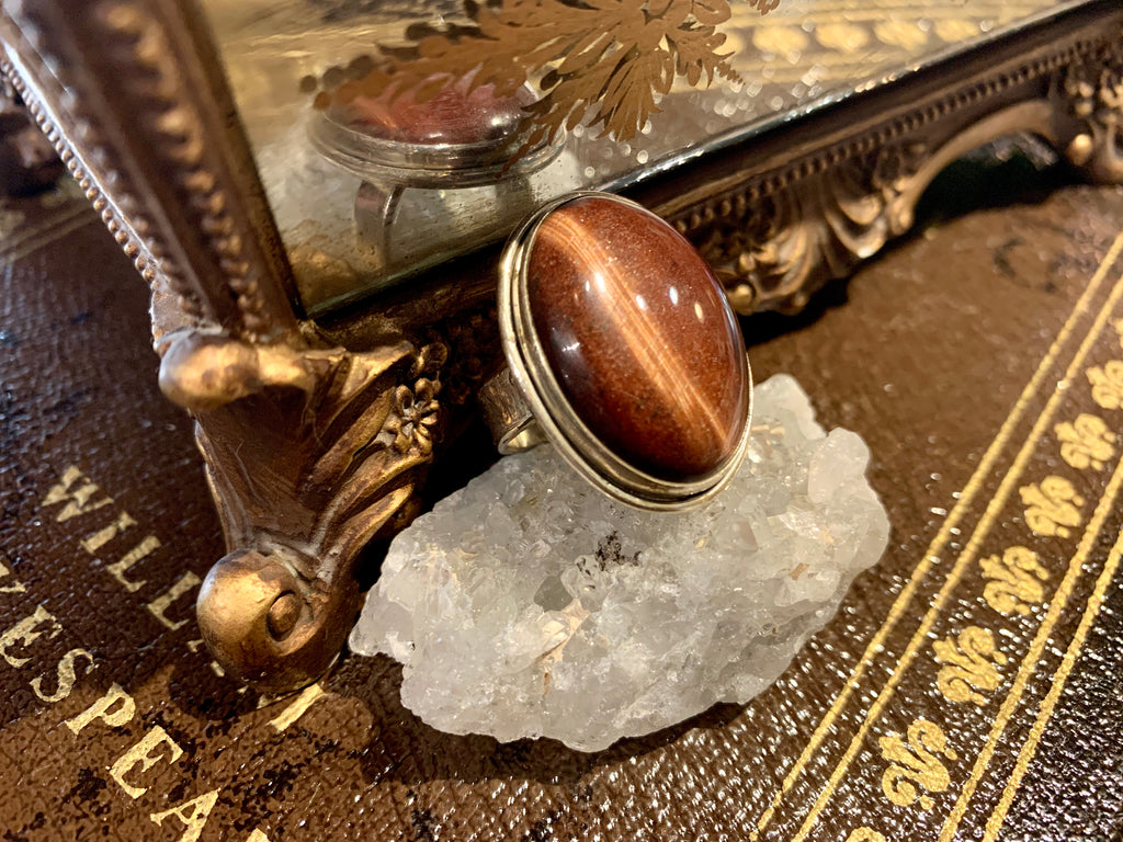 Red Tiger's Eye Large Ari Ring - Jewels & Gems