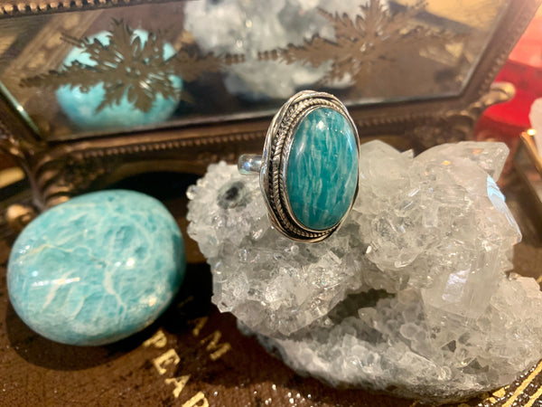 Amazonite Cassia Ring (One of a kind) - Jewels & Gems