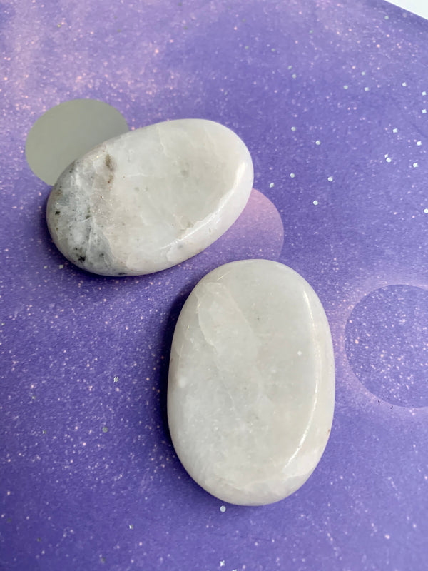 White Calcite Smoothstones - Jewels & Gems