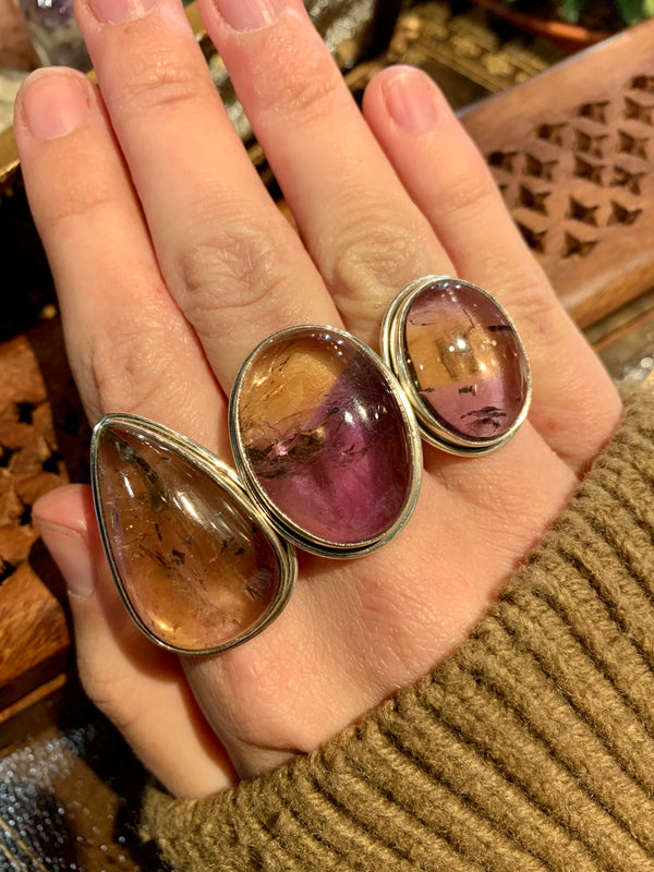 Ametrine Large Ari Rings - Jewels & Gems