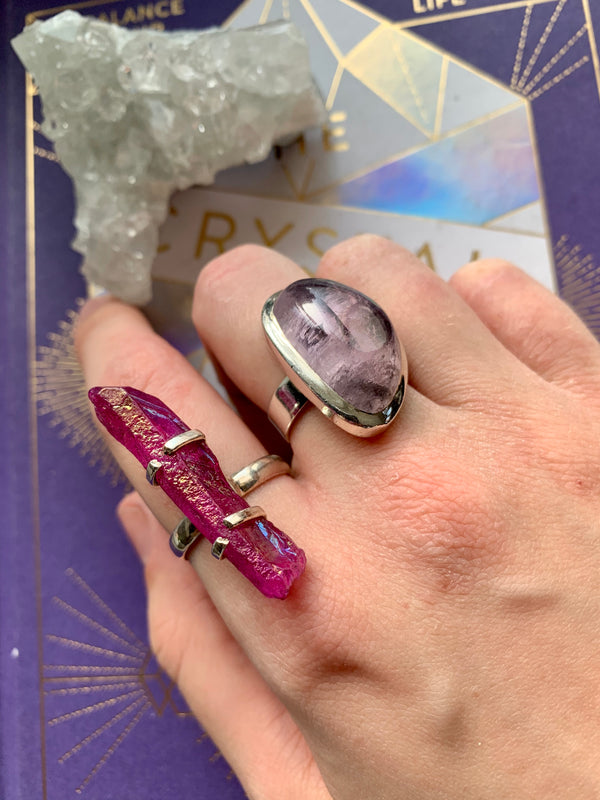 Purple Aura Quartz Sanaa Ring (US 8.5 & 9) - Jewels & Gems