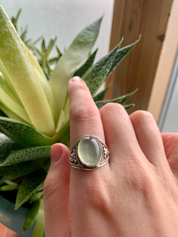 Prehnite Odessa Ring (Large sizes) - Jewels & Gems