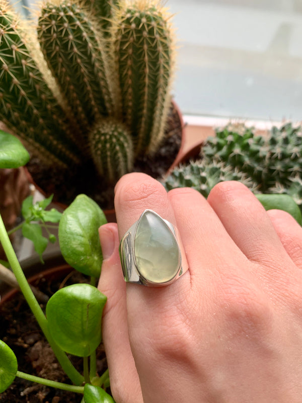 Prehnite Signet Ring (One of a kind) - Jewels & Gems