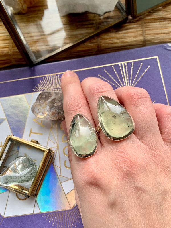 Prehnite Large & XLarge Akoni Ring - Jewels & Gems