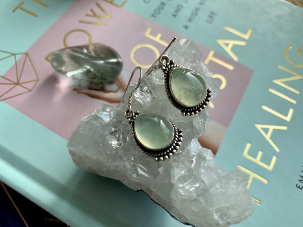 Prehnite Lux Earrings - Jewels & Gems