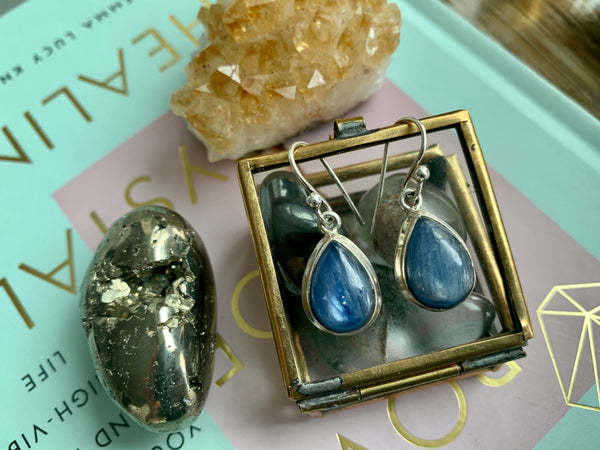 Kyanite Drop Ari Earrings - Jewels & Gems