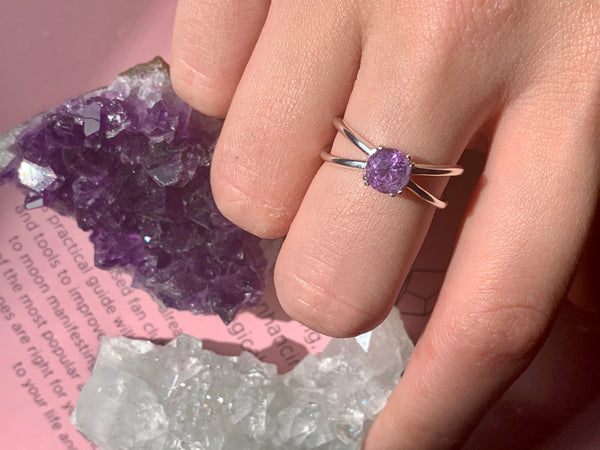 Amethyst Laila Ring - Jewels & Gems