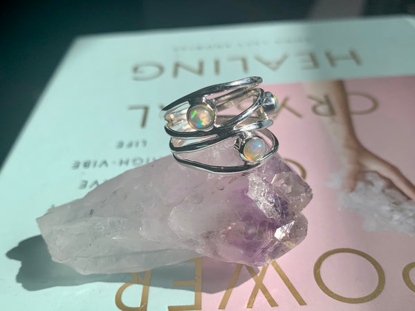 Opal Adriel Ring (US 7.5 & 8) - Jewels & Gems